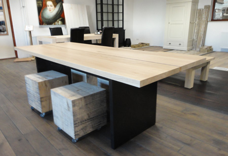 Moderne Eikenhouten Eettafel.Houten Tafels Van Eiken Designtafels 2plank