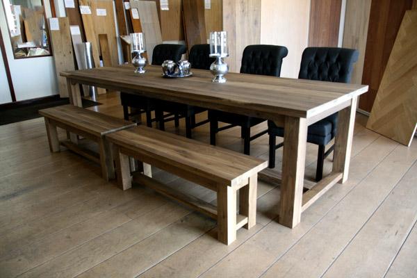 Grote Houten Tafels : Houten tafels van eiken