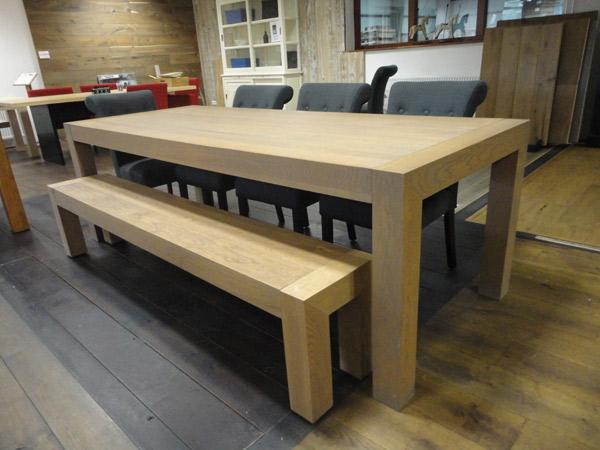 Houten tafel bank. stunning op wielen hout als eettafel x x cm with
